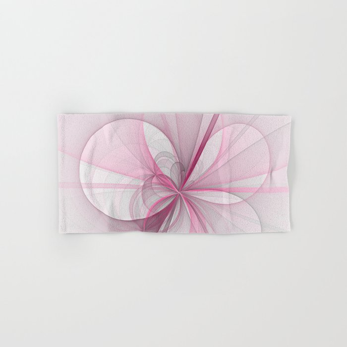 The Birth of Pink, Abstract Fractal Art Hand & Bath Towel