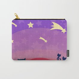 Starry sunset seen by cats Carry-All Pouch