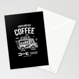 Fresh and Hot Coffee Food Truck Stationery Cards