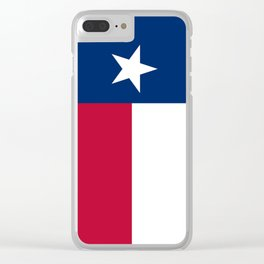 Texas State Flag, Authentic Version Clear iPhone Case