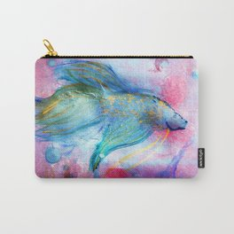 Iridescent Abstract Betta Carry-All Pouch