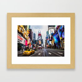 First light in Times Square Framed Art Print