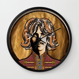 Boho Beatle (George) Wall Clock