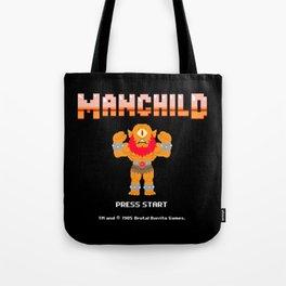 8Bit Manchild Tote Bag