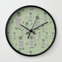 Penguin Christmas Wall Clock