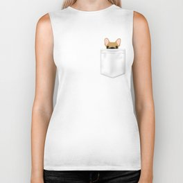 Pocket French Bulldog - Fawn Biker Tank