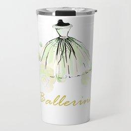 Green Dress Ballerina Travel Mug
