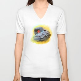 Black Palm Cockatoo realistic painting Unisex V-Neck