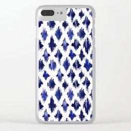 Shaking ultramarine Clear iPhone Case