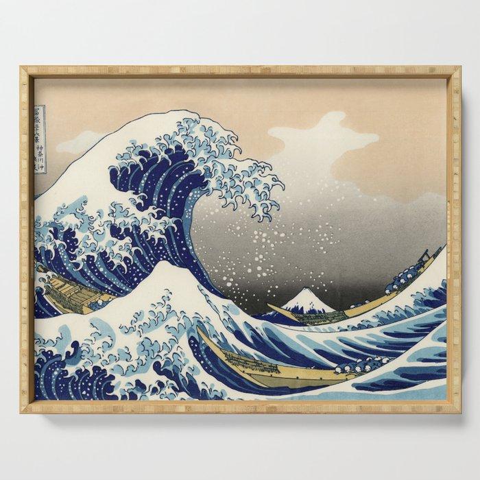 Katsushika Hokusai, The Great Wave off Kanagawa, 1831 Serving Tray