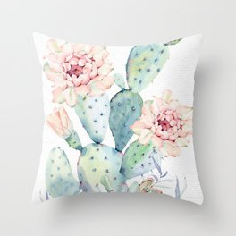 Prettiest Cactus Rose by Nature Magick Throw Pillow