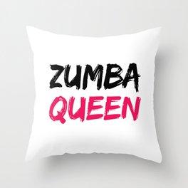 Zumba Queen Throw Pillow