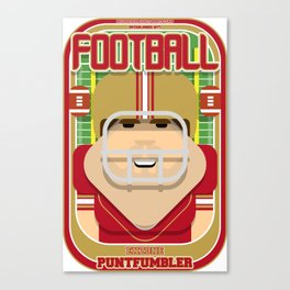 American Football Red and Gold - Enzone Puntfumbler - Bob version Canvas Print