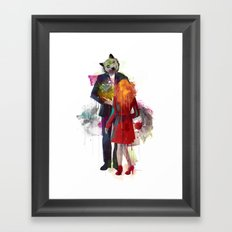Red Riding, I Am Not Your Wolf Framed Art Print