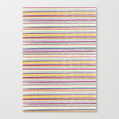 SUMMER CRAYON STRIPES Canvas Print