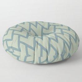 Soft Aqua Blue Green Tessellation Line Pattern 17 2021 Color of the Year Aegean Teal Salisbury Green Floor Pillow