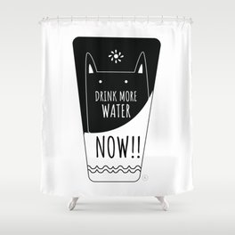 Caring cat Shower Curtain