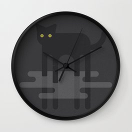 Cat in the Mist Wall Clock