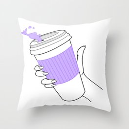 don't spill ! Throw Pillow