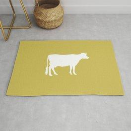Cow: Mustard Yellow Rug