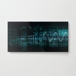 Technology Portal with Digital Circle Access System Metal Print