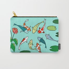 Koi Fish Meeting Carry-All Pouch