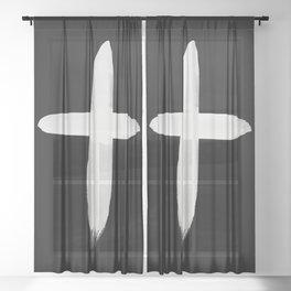 Watercolor Cross II Sheer Curtain