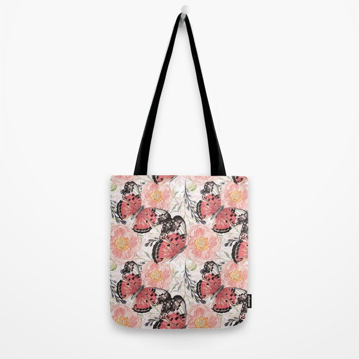 Flowers & butterflies #3 Tote Bag