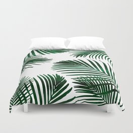 Tropical Palm Leaf Duvet Cover