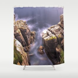 View From The Minack Theatre, Porthcurno, Cornwall, England, United Kingdom Shower Curtain
