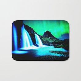 Aurora Borealis Waterfall Vibrant Bath Mat