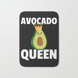 Avocado Queen Guacamole Vintage Retro Bath Mat