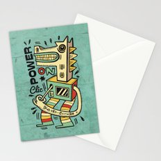 Power on - blue Stationery Cards