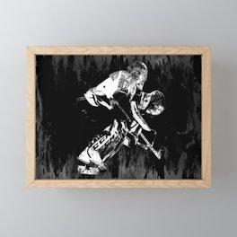 Ice Hockey Goalie Framed Mini Art Print