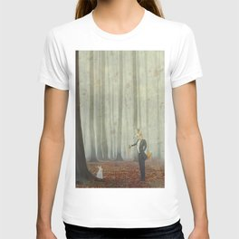 Fox and rabbit T-shirt