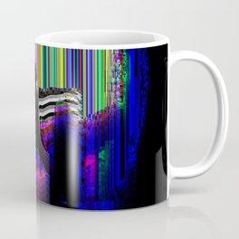GLITCH YOGA, WARRIOR 1.0 Coffee Mug