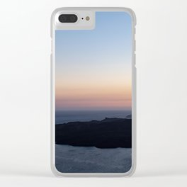 Santorini Volcano at Sunset Clear iPhone Case