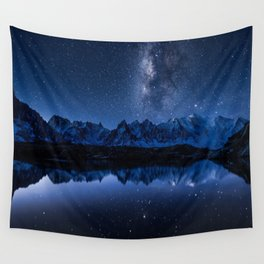 Night mountains Wall Tapestry