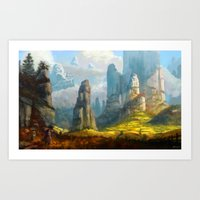 spires Art Prints featuring Iaotia Spires by Stephen Garrett Rusk