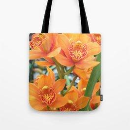 Orchid in Orange Tote Bag