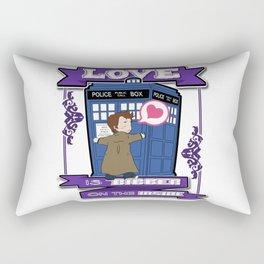 LOVE is Bigger on the Inside Rectangular Pillow