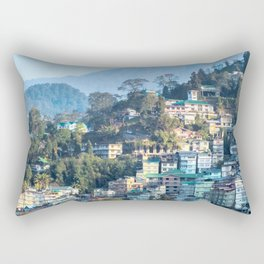 Pastel City : Gangtok Rectangular Pillow