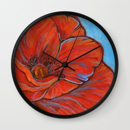 Big Poppy Wall Clock