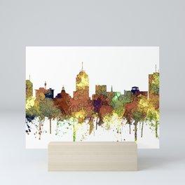 Fresno, California Skyline SG - Safari Buff Mini Art Print