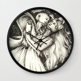 My love the wind Wall Clock