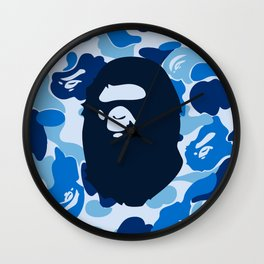 Hypebeast ape Camo Pattern Wall Clock
