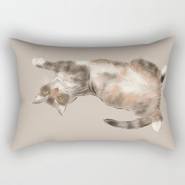 Trusting cat Rectangular Pillow