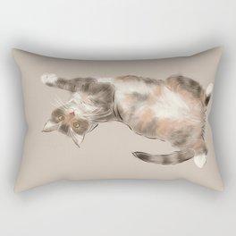 Trusting cat Rectangular Pillow