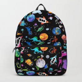 Dinosaur Astronauts In Outer Space Backpack