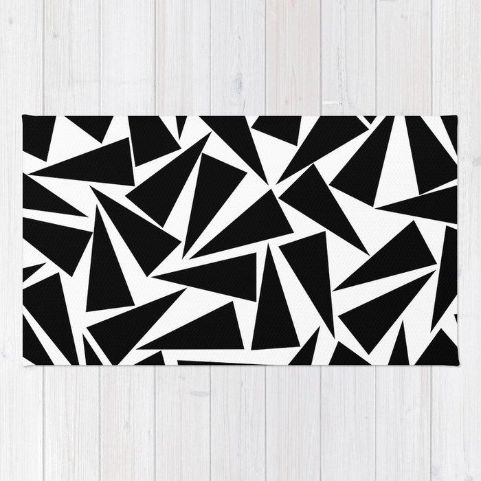 black triangle pattern Rug